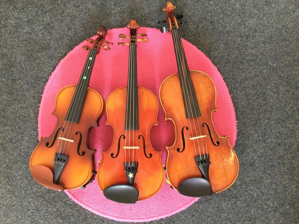 Musike Berlin - Geigen in verschiedenen Größen